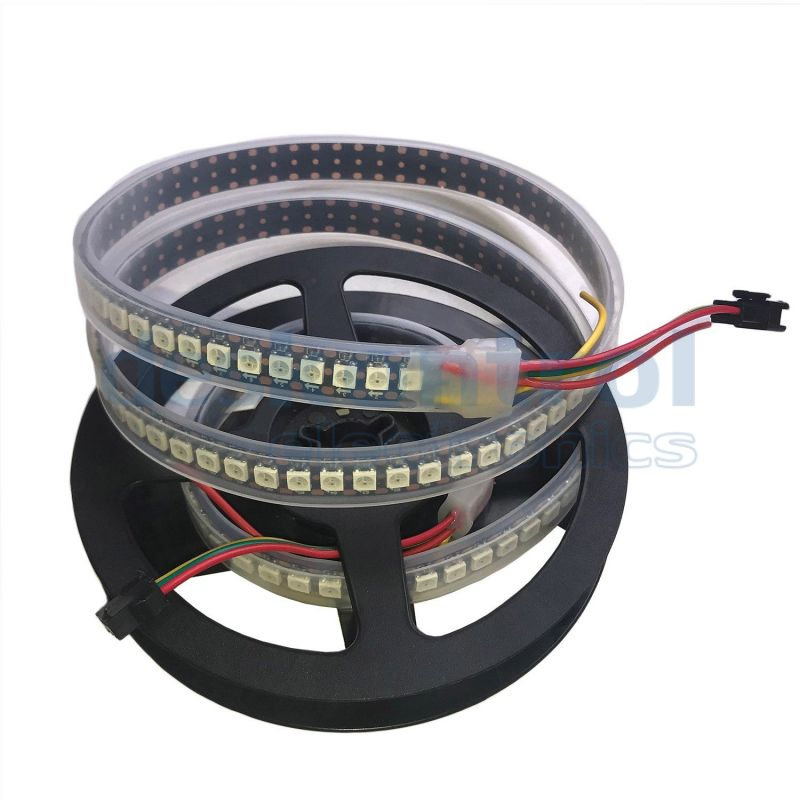 RGB digital led strip SK6812 144 leds 34w 1 meter PCB black